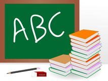 Blackboard with stand Royalty Free Stock Photo