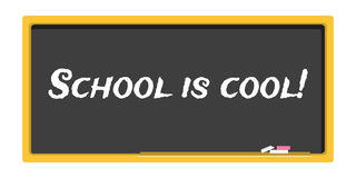 Blackboard stationery school is cool. Vector blackboard stationery school is cool vector illustration