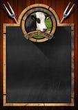 Blackboard for a Steak House Stock Photo