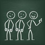 Blackboard Stickman Cheerfulness Stock Photo