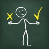 Blackboard Stickman 2 Communication Problem Royalty Free Stock Image