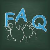 Blackboard Stickman FAQ Stock Images