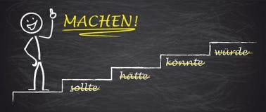 Blackboard Stickman Motivation Sollte Machen Stock Photography
