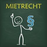 Blackboard Stickman Paragraph Mietrecht Stock Photography