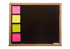 Blackboard with sticky Stock Photo