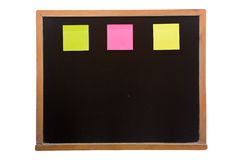 Blackboard with sticky Stock Images