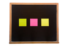 Blackboard with sticky Stock Photography