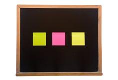 Blackboard with sticky Stock Photography