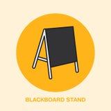 Blackboard stojaka linii ikona Cukiernianego menu plenerowa reklama Wystawa i promocyjny projekta element Handel protestuje miesz Zdjęcie Royalty Free