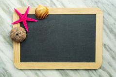 Blackboard for summer memories Stock Image