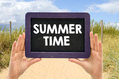 Blackboard with summer time Royalty Free Stock Photography