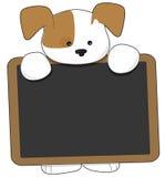blackboard szczeniak Obraz Royalty Free