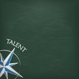 Blackboard talentu Cyrklowa pokrywa Zdjęcia Royalty Free