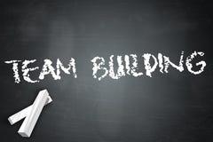 Blackboard Team Building. Blackboard with Team Building wording Royalty Free Stock Photos