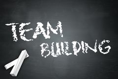 Blackboard Team Building. Blackboard with Team Building wording stock illustration