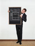 Blackboard with template web page Royalty Free Stock Photo