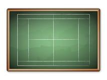 Blackboard tennis Stock Photos