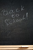 Blackboard with text Royalty Free Stock Photography