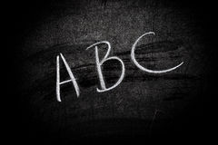 Blackboard with text Stock Image
