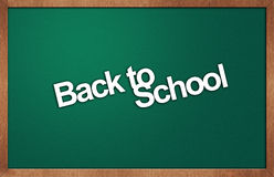 Blackboard with text back to school Royalty Free Stock Images