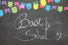 Blackboard with the text - Back to School Royalty Free Stock Image