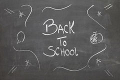 Blackboard with the text - Back to School Stock Image