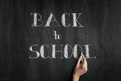 Blackboard with the text Back to school Stock Photos