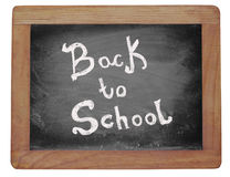 Blackboard with text: Back to school. Royalty Free Stock Photos