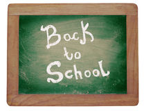 Blackboard with text: Back to school. Royalty Free Stock Image