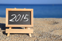 Blackboard with 2015 text Stock Images