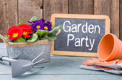Blackboard  with the text Garden Party Royalty Free Stock Images
