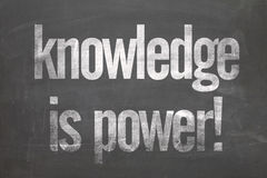 Blackboard with the text - Knowledge is Power Royalty Free Stock Photos