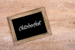 Blackboard with text Oktoberfest Royalty Free Stock Images
