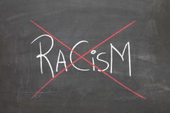 Blackboard with the text Racism.  Royalty Free Stock Photo
