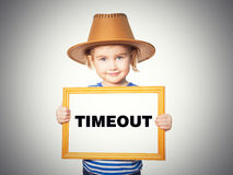 Blackboard. Text TIMEOUT. Royalty Free Stock Images