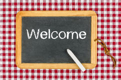 Blackboard with text Welcome Royalty Free Stock Photos