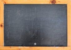 Blackboard texture and wood frame