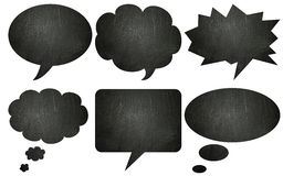 Blackboard textured speech bubbles Royalty Free Stock Image