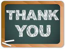 Blackboard with Thank You Message royalty free illustration