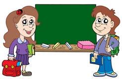 blackboard ucznie dwa Zdjęcie Royalty Free