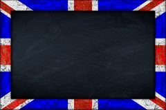 Blackboard with union jack flag frame Royalty Free Stock Photo