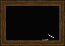 Blackboard Vector with chalks Royalty Free Stock Photography