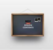 Blackboard vector illustration. With polaroid frames Royalty Free Stock Image