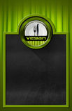 Blackboard with Vegan Symbol Royalty Free Stock Image