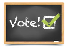 Blackboard Vote Royalty Free Stock Photos