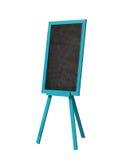 Blackboard w błękitnej drewno ramie na bielu Zdjęcia Royalty Free