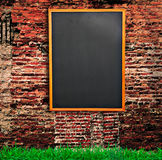 Blackboard on wall Stock Photography