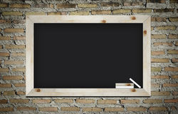 Blackboard on wall background Royalty Free Stock Photo