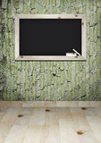 Blackboard on wall room Royalty Free Stock Images
