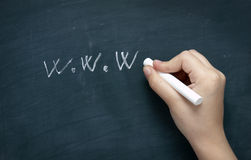 Blackboard web 2 Royalty Free Stock Photography